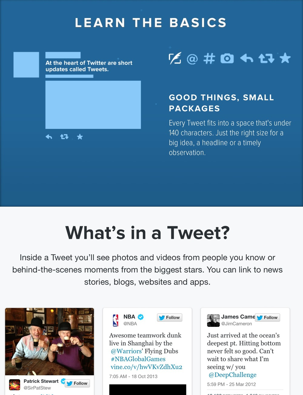 "Twitter's ""Learn the Basics"" guide"