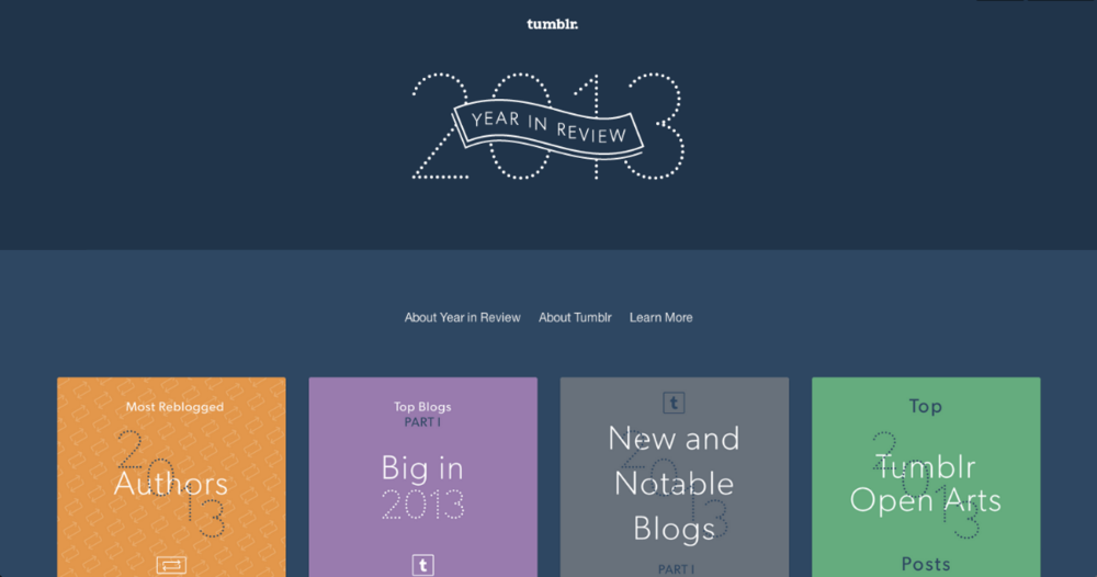 Tumblr's Year in Review (2013)