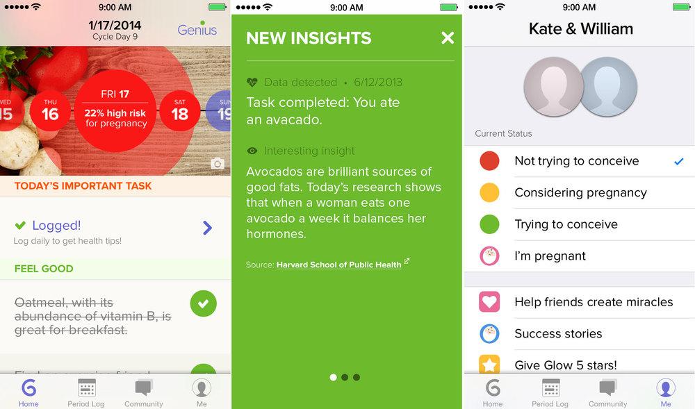 Glow app for iOS