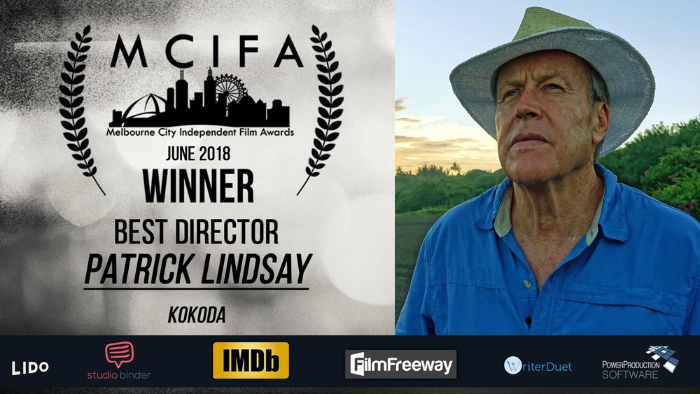 We're delighted that KOKODA, THE SPIRIT LIVES has won Best Documentary, Best Director and Best Editor at the Melbourne City Independent Film Awards. Great team effort Paul Croll, Jimmy Hamilton and Tommy Cunningham!