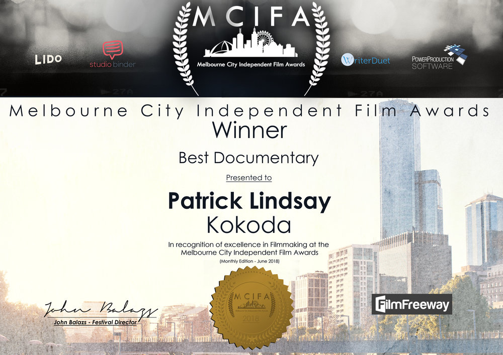 MCIFA Award- June 2018 - WINNER Best Documentary.jpg
