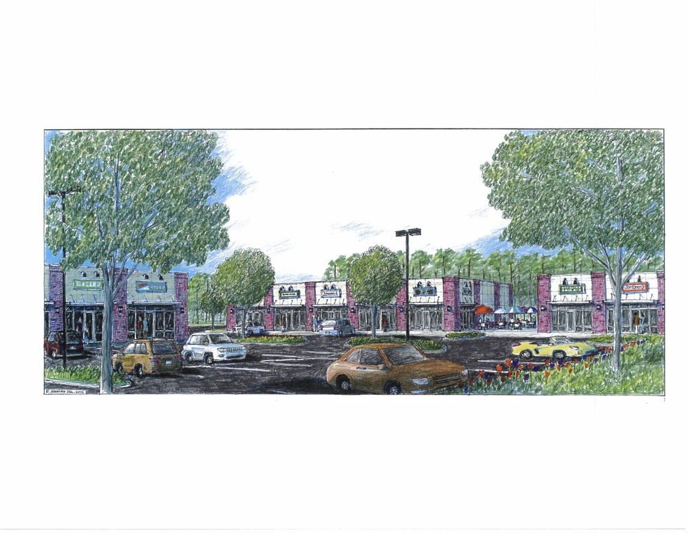 Rendering of Shops at Foxbank Plantation