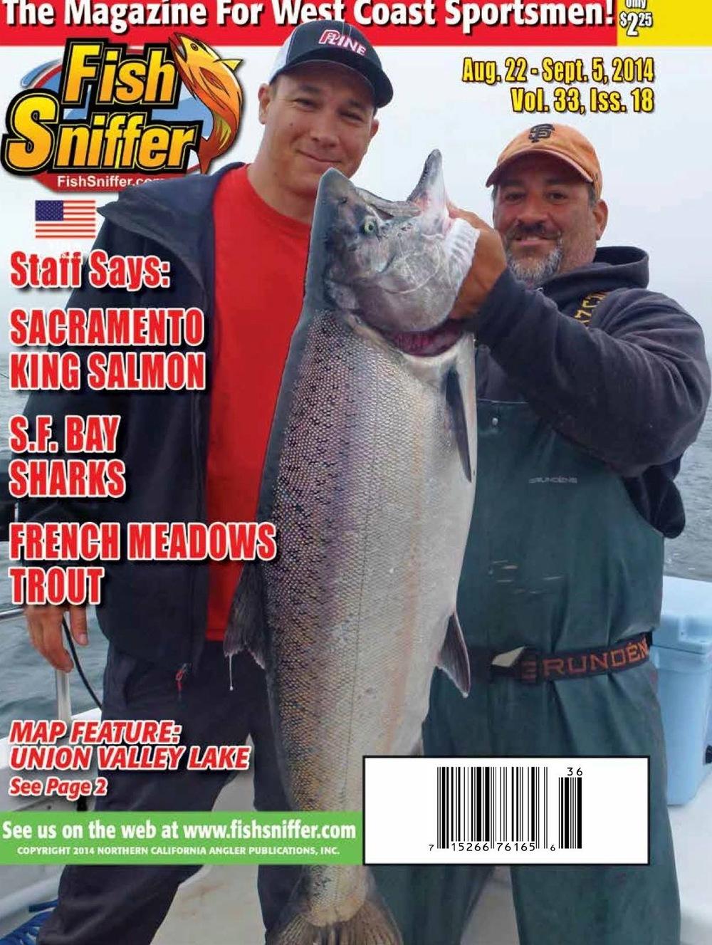 Fish Sniffer Cover Shot Captain Tim Wong & Jeff CaramellaNorCal Sportfishing Adventures