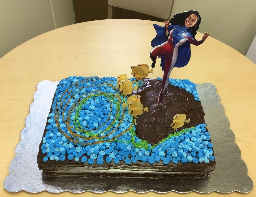 Jenn's thesis cake!