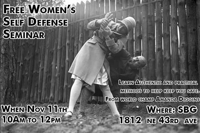 Hey friends, I highly recommend checking out this self defense seminar with my coach @amanda_sbg_ in a few weeks. Keywords: AUTHENTIC and PRACTICAL. The stuff we train here every day could save your life. Please hmu if you have any questions or unease about attending.