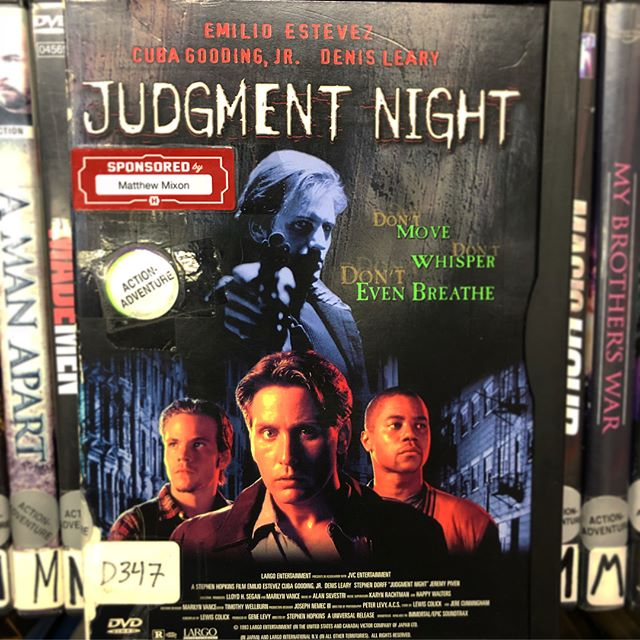I rented this VHS from Woodman's Food Market in Madison, WI in 1997 and watched it every day after school for like a week, then spaced on returning it, and had to buy it for like $45 or something (VHS tapes that weren't Disney movies or like Home Alone or something were wild expensive back in the day.) And now, twenty years later, I have the great HONOR of sponsoring it at Movie Madness. Go rent it If you're cool.