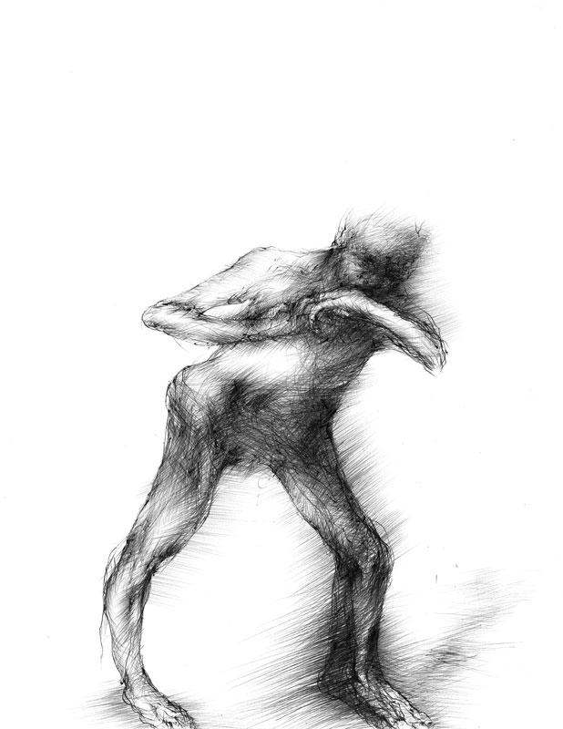 Untitled, 2007, ballpoint pen on paper