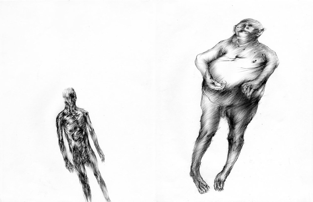 Untitled, 2009, ballpoint pen on paper