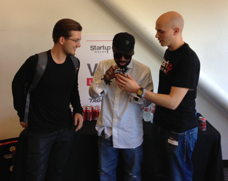 Founder of Soundcloud - Alex Ljung, Jermaine Dupri, and Derek Andersen (Founder of Startup Grind)