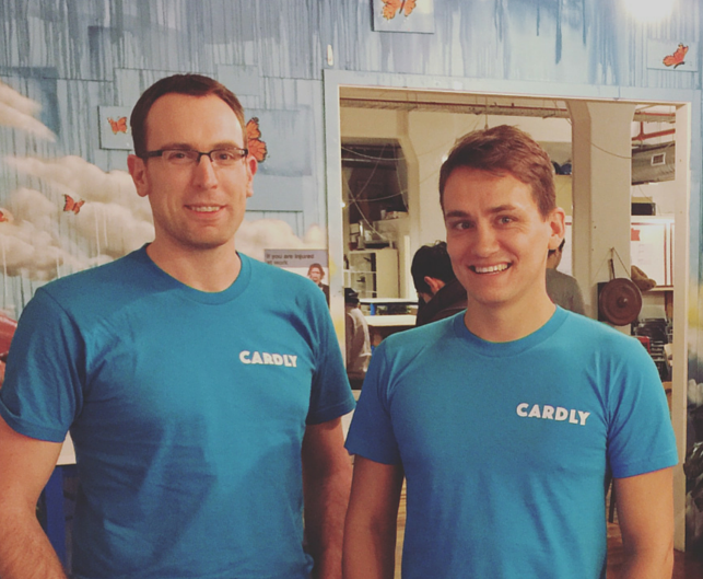 Co-founders of Cardly, Tom Clift and Patrick Gaskin (Image courtesy Patrick Gaskin)