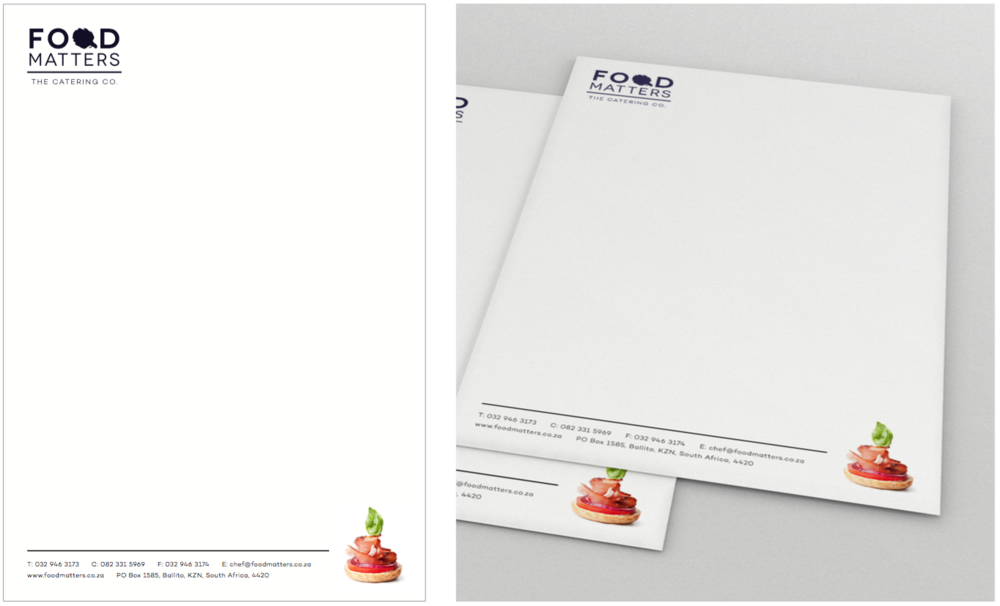 Food Matters Letterhead Design