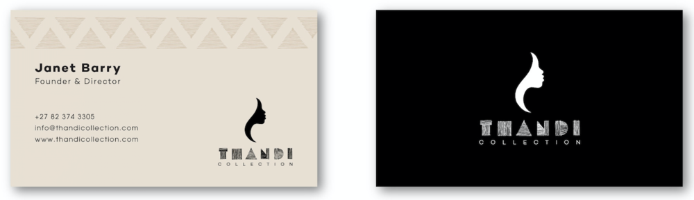 Thandi Collection Business Card Design