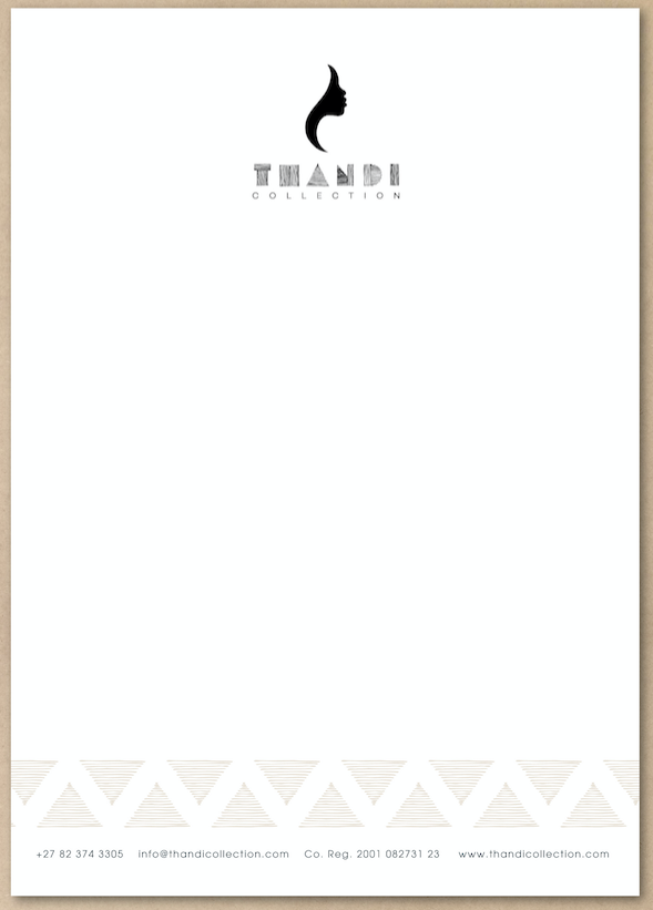 Thandi Collection Letterhead Design