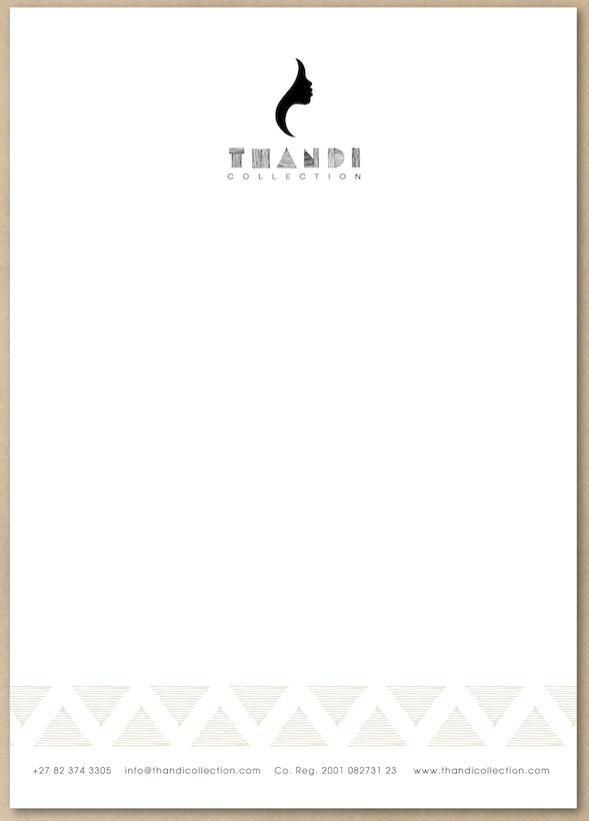 Thandi Collection Letterhead Design