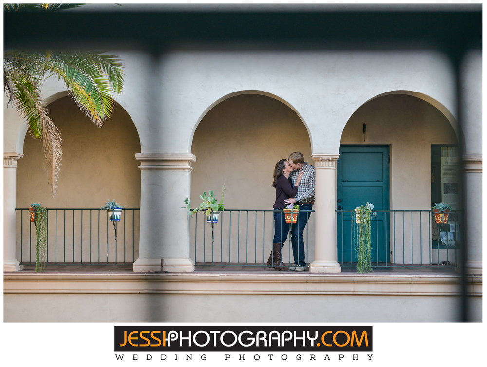 Engagement session Balboa Park.