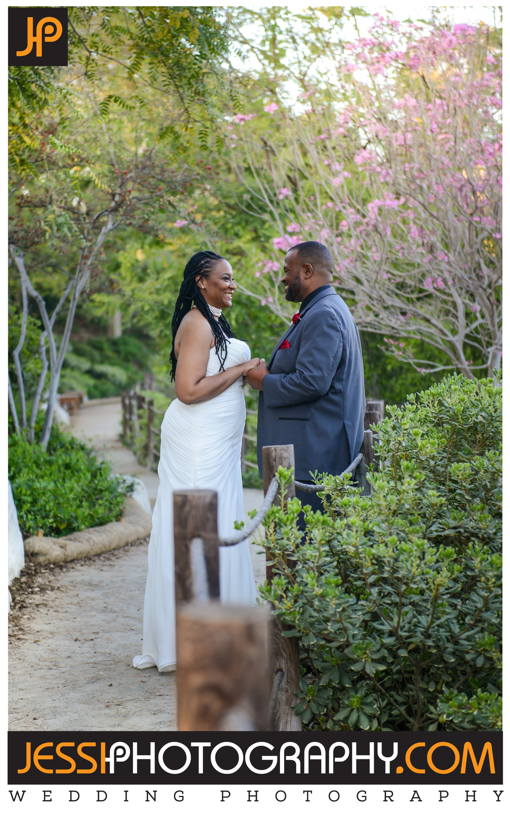 Top wedding photography portrait in San Diego the Japanese Garden