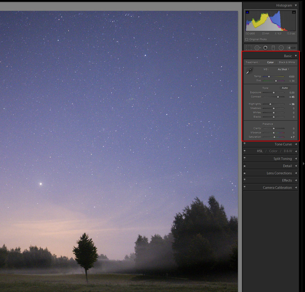 How To Process Star Amp Night Sky Pictures In Lightroom 5