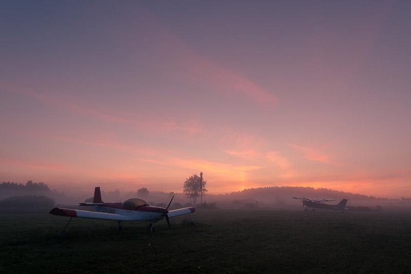 After - Fog - Red Morning