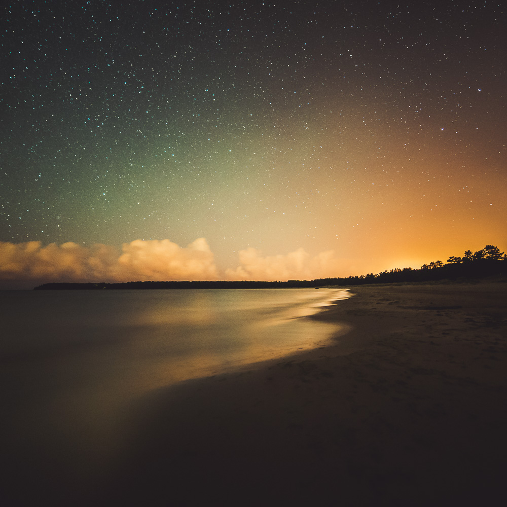 Mikko Lagerstedt - Beach At Night - 2014, Yyteri, Finland