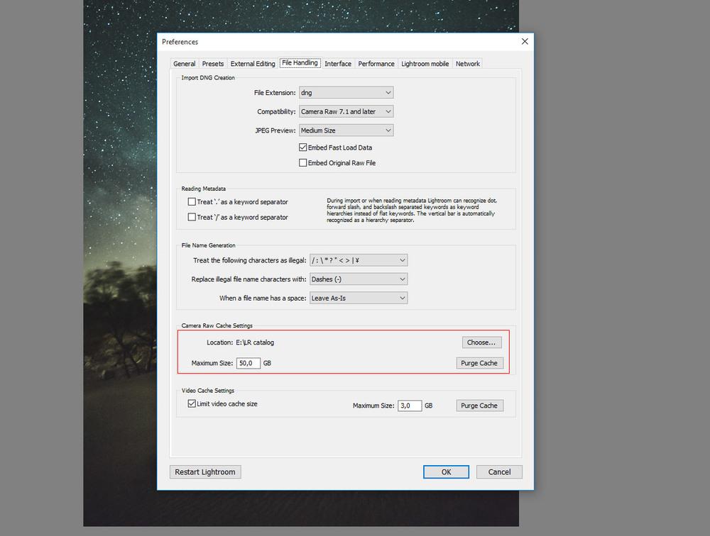 For faster Lightroom set a bigger cache size up to 50 GB should make it
