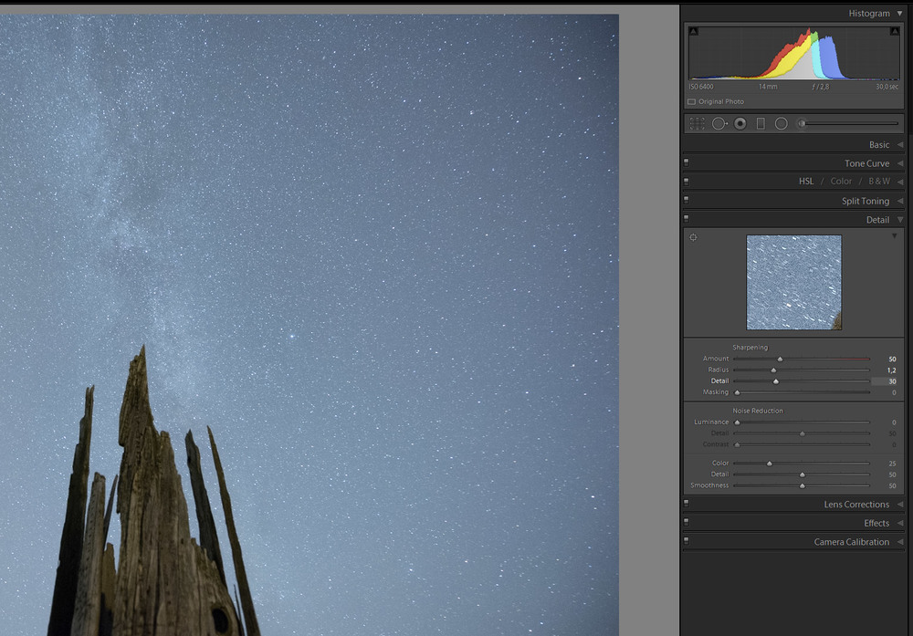 My go-to settings for sharpening star images