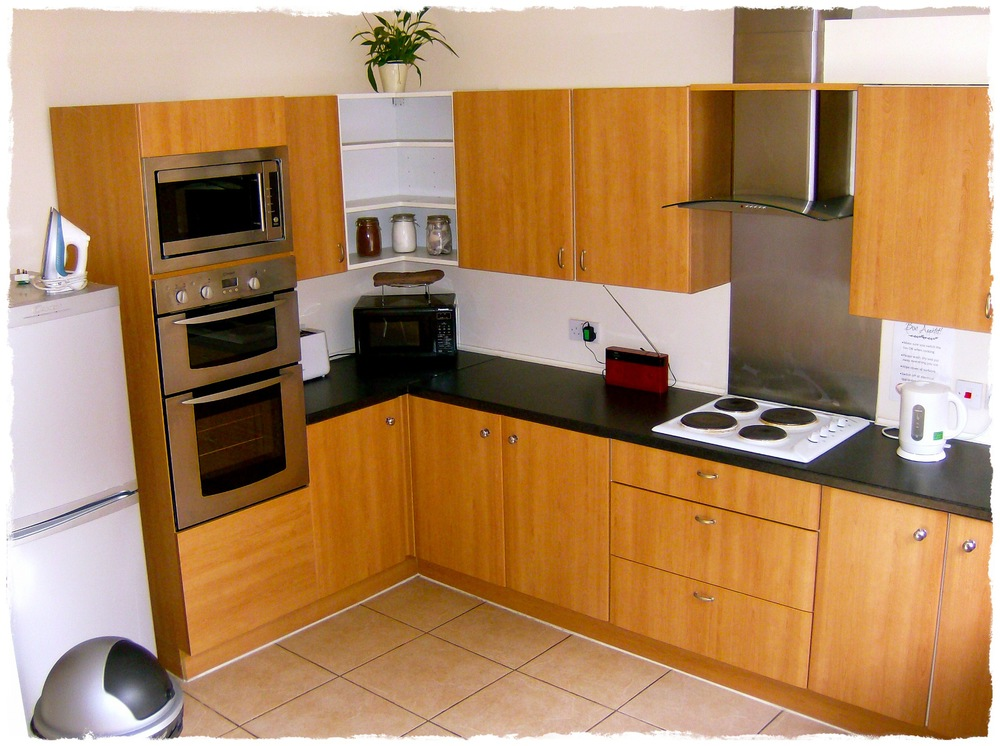 self-catering kitchen in the annexe building.