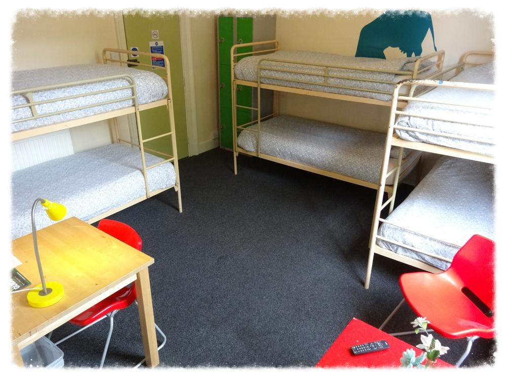 6 bed dorm room in annexe building.