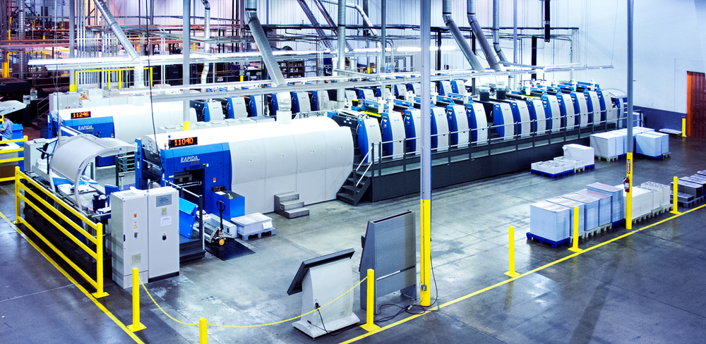 KBA printers inside Dallas facility.