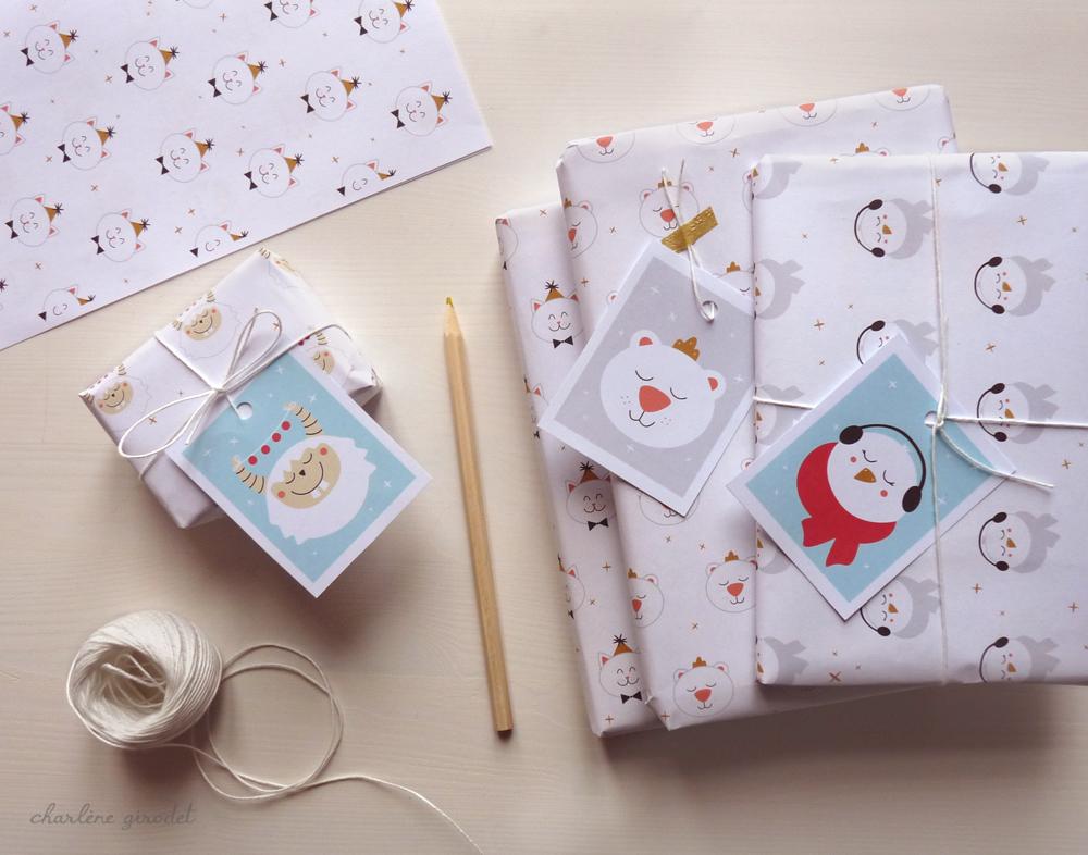 Étiquettes cadeaux Charlene Girodet