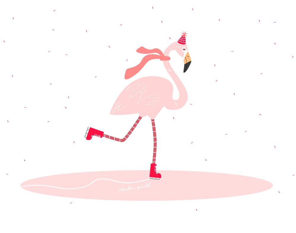 Wallpaper Flamant Rose - Charlene Girodet