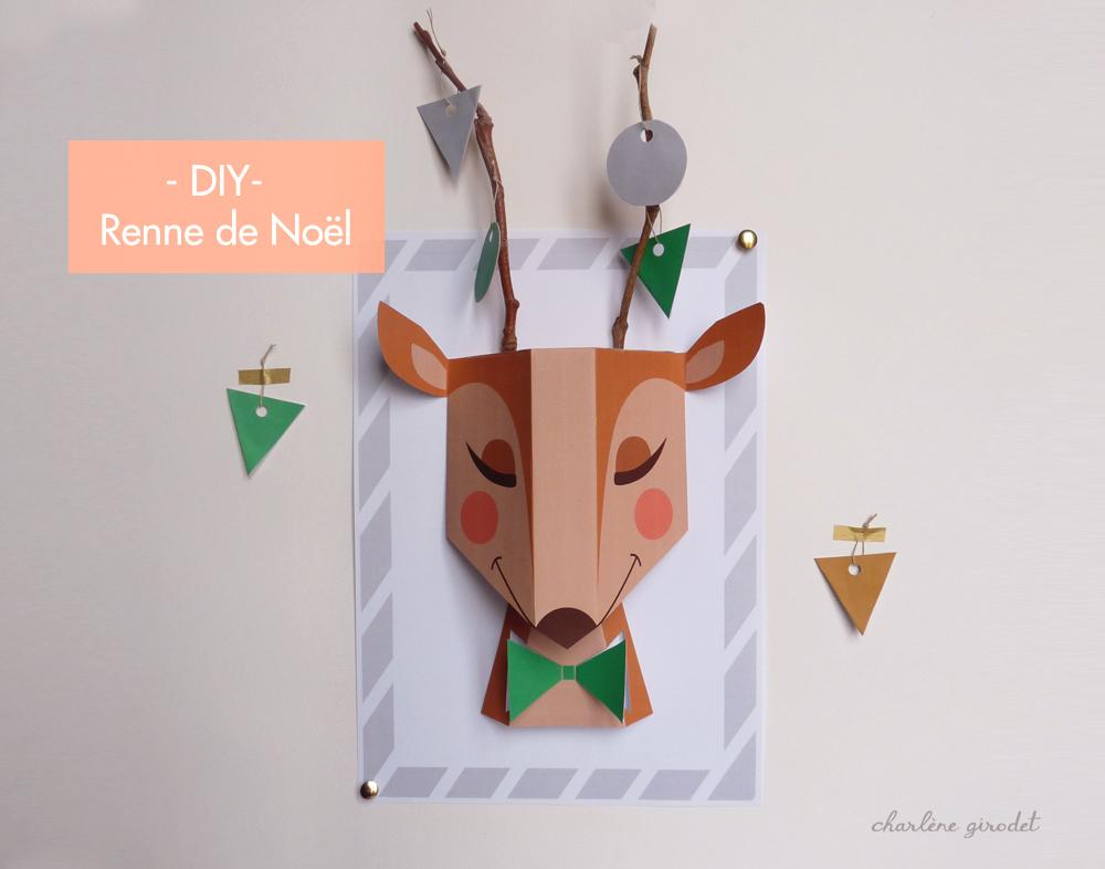DIY - Printable renne de Noël - Charlene Girodet