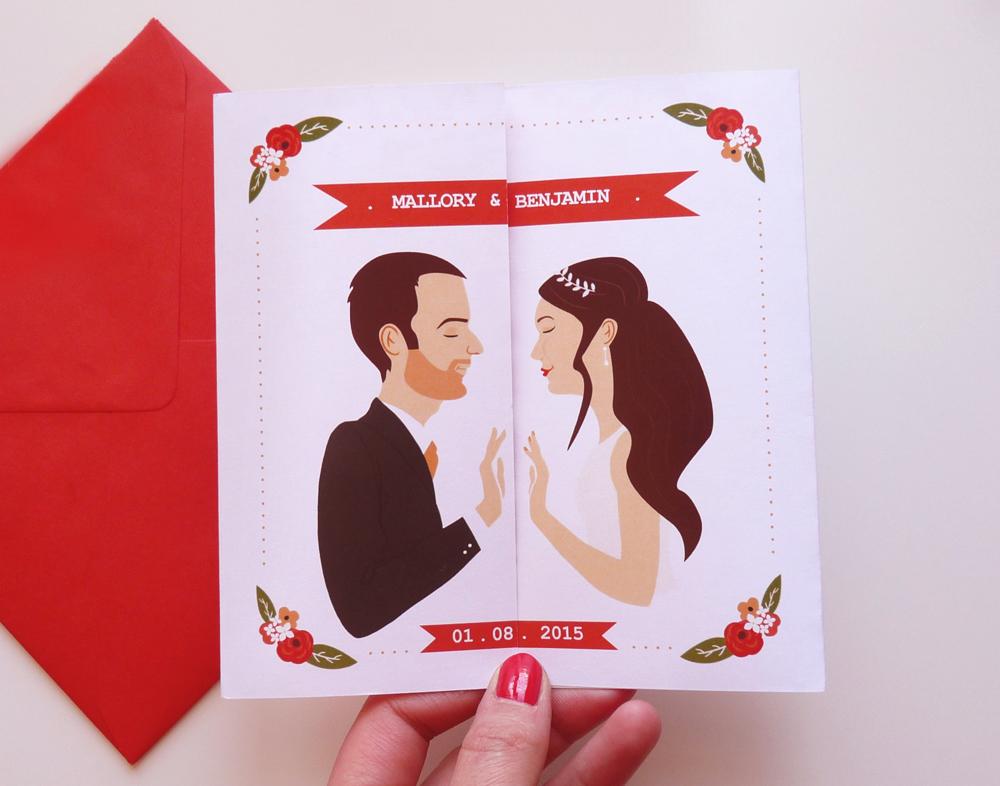 Faire-part mariage fenêtre - Charlene Girodet