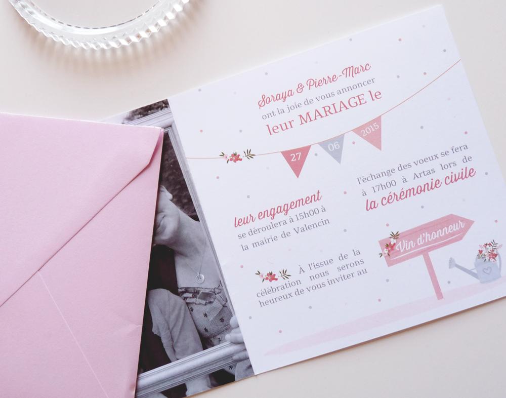 Faire-part de mariage - Charlène Girodet