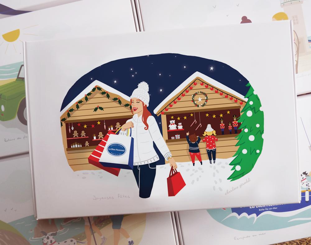 Coffret de Noël La Bien Nommée - Illustration - Charlène Girodet