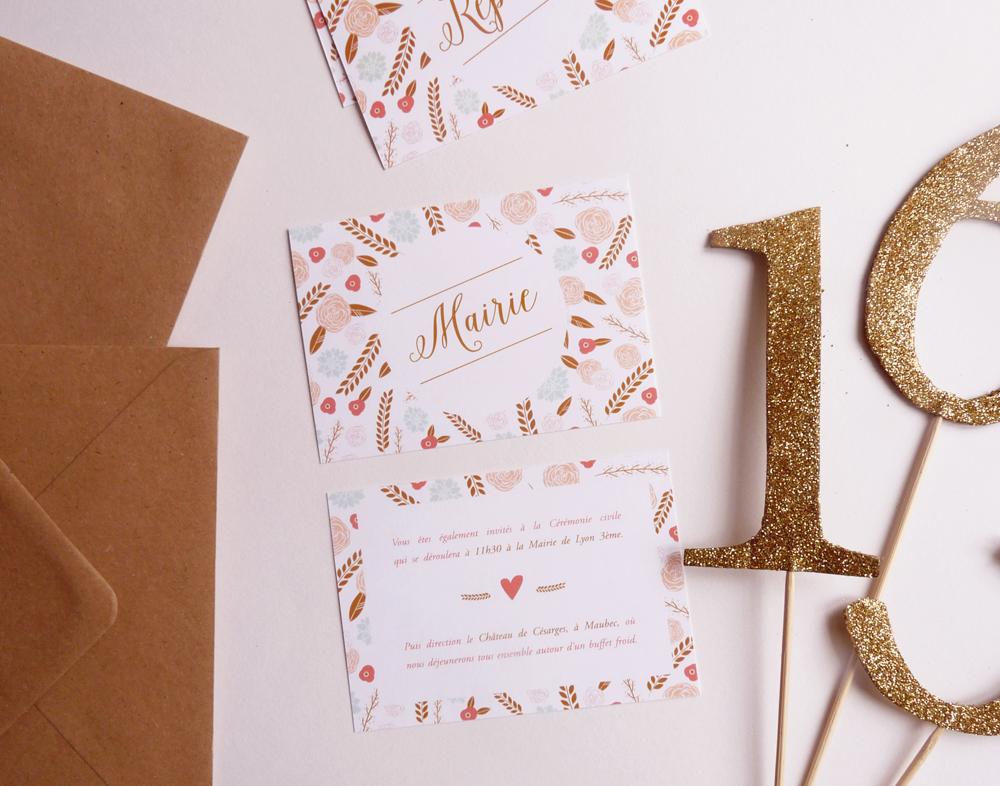 Faire-part mariage - Charlène Girodet