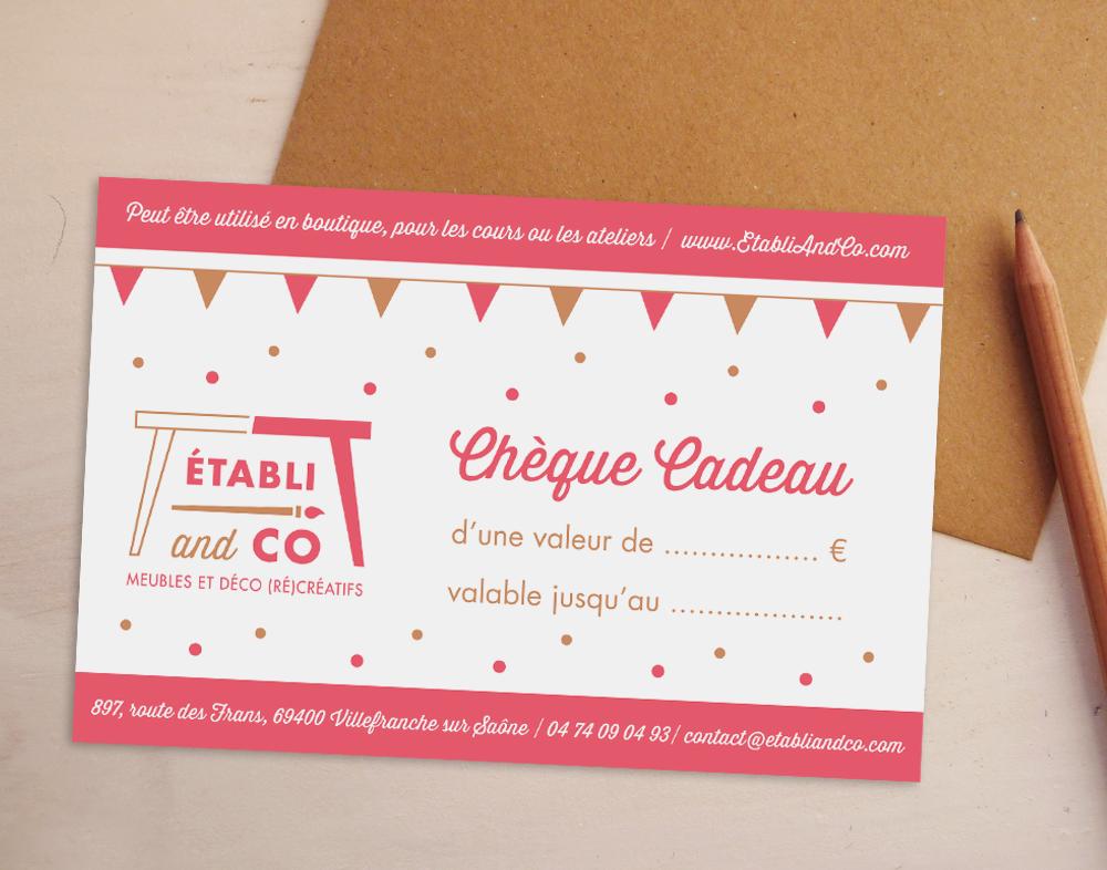 Chèque cadeau - Établi and Co - Charlène Girodet