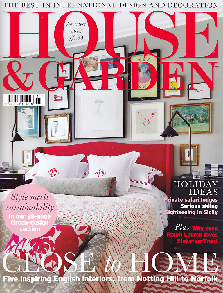 House & Garden cover Nov 2012
