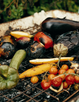 Moro's vegetables on barbecue