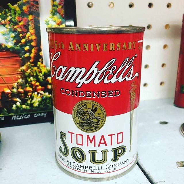 Vintage soup can! #andywarhol #campbellssoup #art