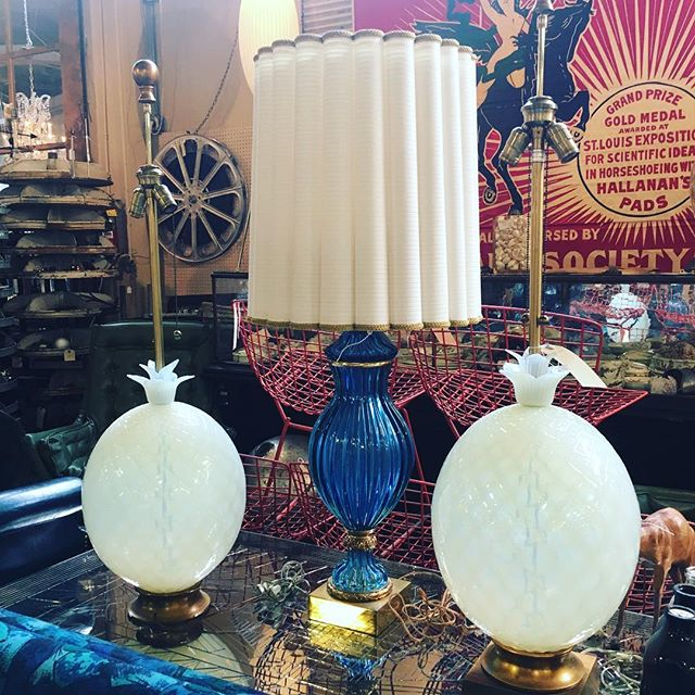 More antique pineapple lamps!! These are such beauties..... #antique #lamp #pineapplecake #seattlefinds