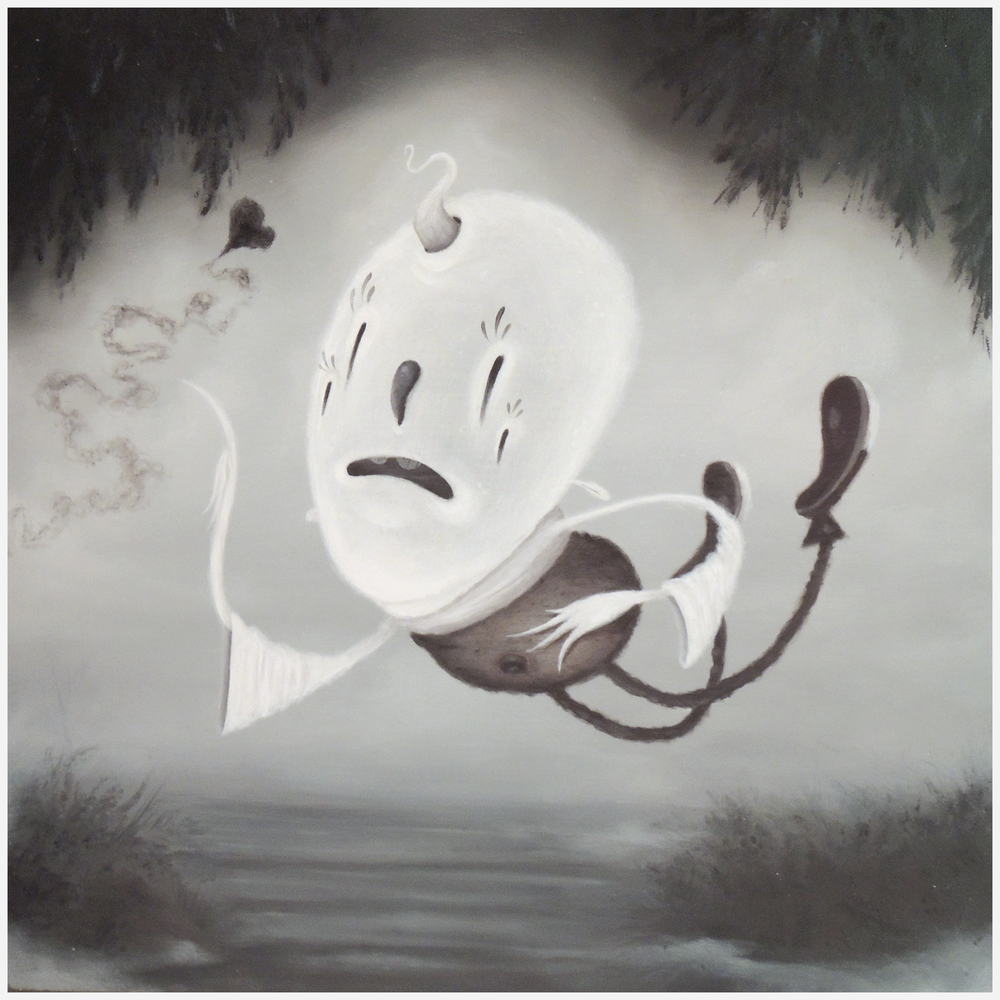 Ghost 8 x 8 Oil on masonite $300.00
