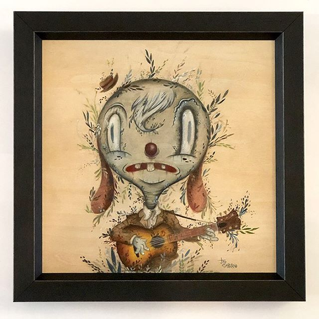 "Hey gang! Online sales for ""All of Everything Erased"" start today at 12pm Pacific/3pm Eastern. Go get you some art!  #strangerfactory #joescarano #allofeverythingerased #popsurrealism #lowbrowart #artgallery #johnpaulgutierrez"