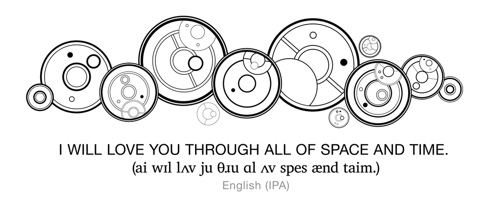 When Writing Gallifreyan When Does One Space Out The Circles Compared To Having It In One