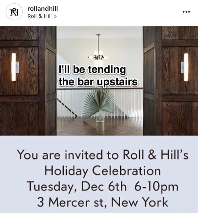 feel free to stop by (first: rsvp@rollandhill.com)