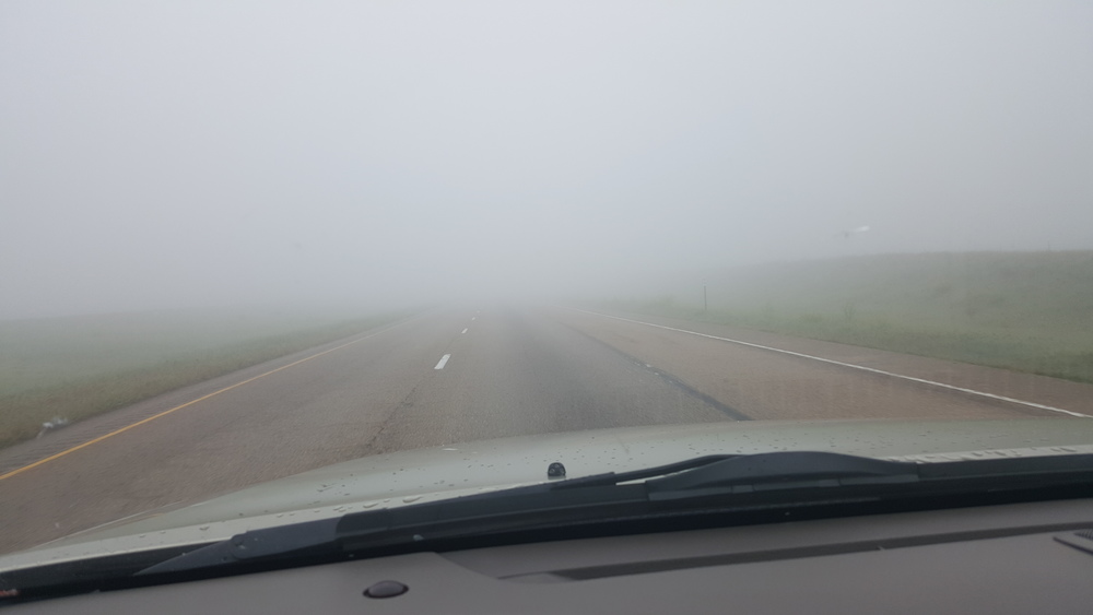 Oklahoma was rain, Texas was fog and New Mexico was wind.