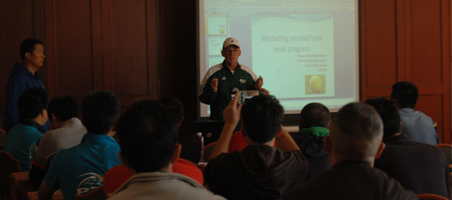 "Asian Coaches Conference in Shanghai. Pride presenting  ""How To Market Yourself And Your Program"""