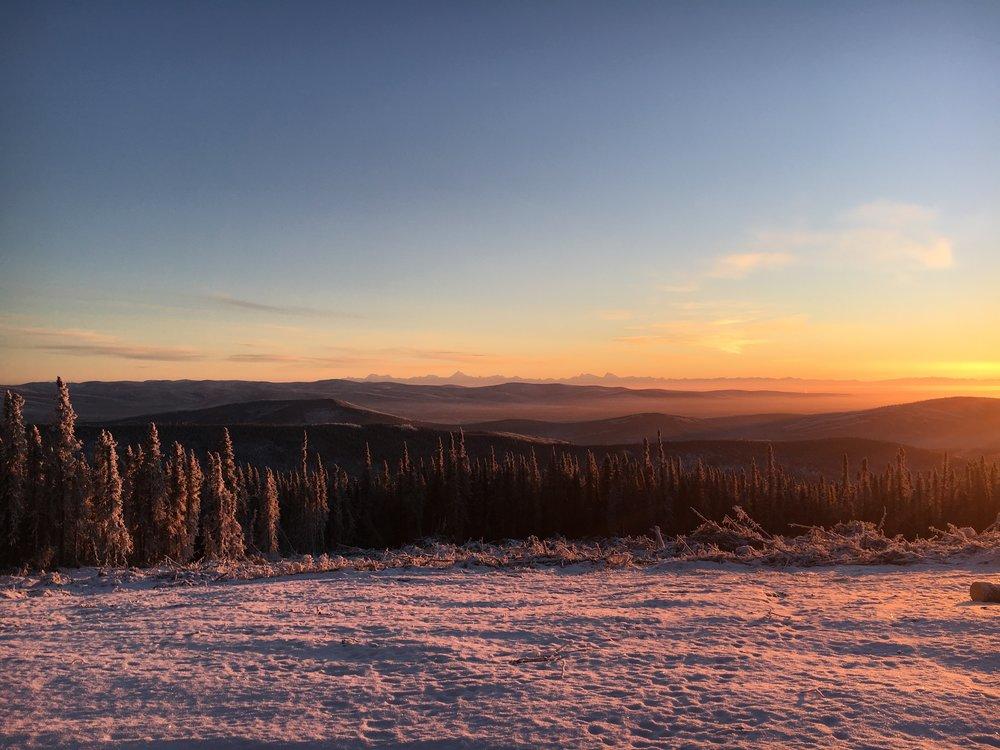 Can you see the Alaska Range on the horizon?