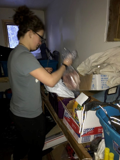 Liz packing more snack packs!
