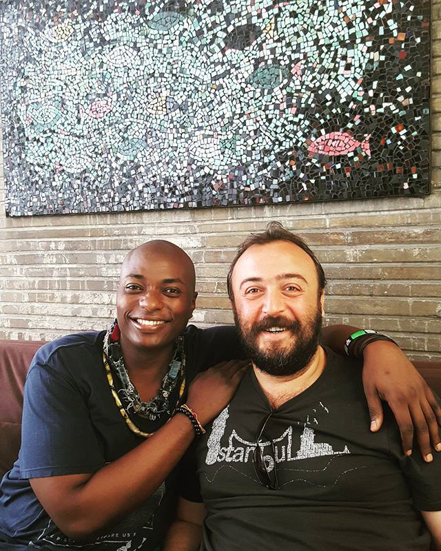 Great talk with @deniz_hamzaoglu about #Turkey and #evolution and #God being #pure #love not having #human #emotional issues like #anger and #punishment and sadness. How we have a #greater #response to #life then just our jobs . #wordsofwisdom #keepitreal #commonsense #heart #shamandurek #htchtw tour