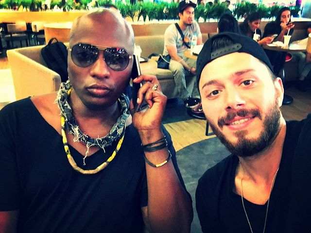 At #airport in #Turkey trying to upgrade my ticket on @turkishairlines so difficult . Hanging with my #amazing #turkish #assistant @sametart who is a life savior and if it wasn't for him and my American assistant @super_hero_sam It would be a mess. #grateful for my #angels #shamandurek #htchtw